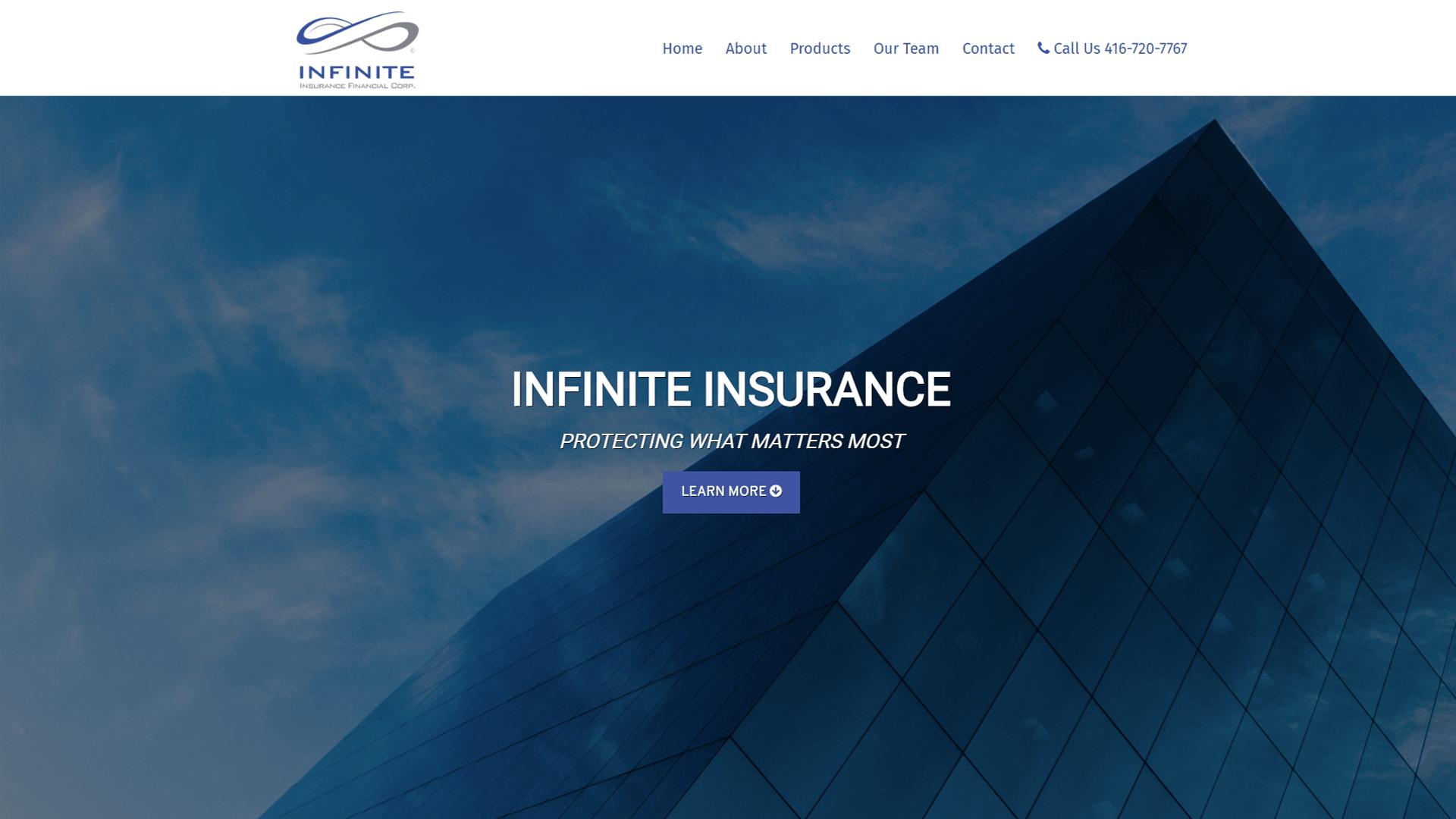 Infinite Insurance Website