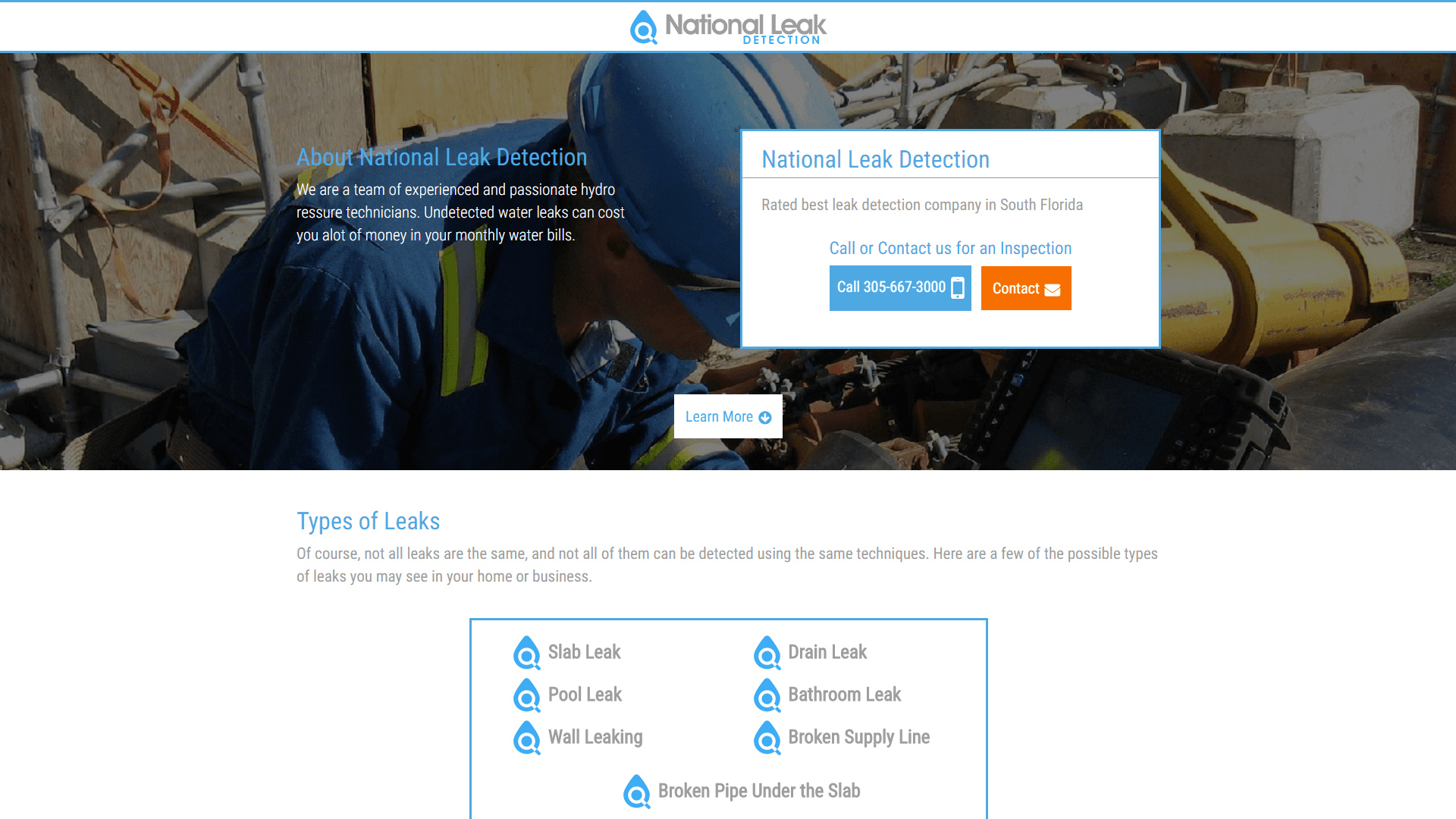 National Leak Detection Website